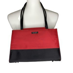 Kate Spade Sam Red & Black Tote Bag Small